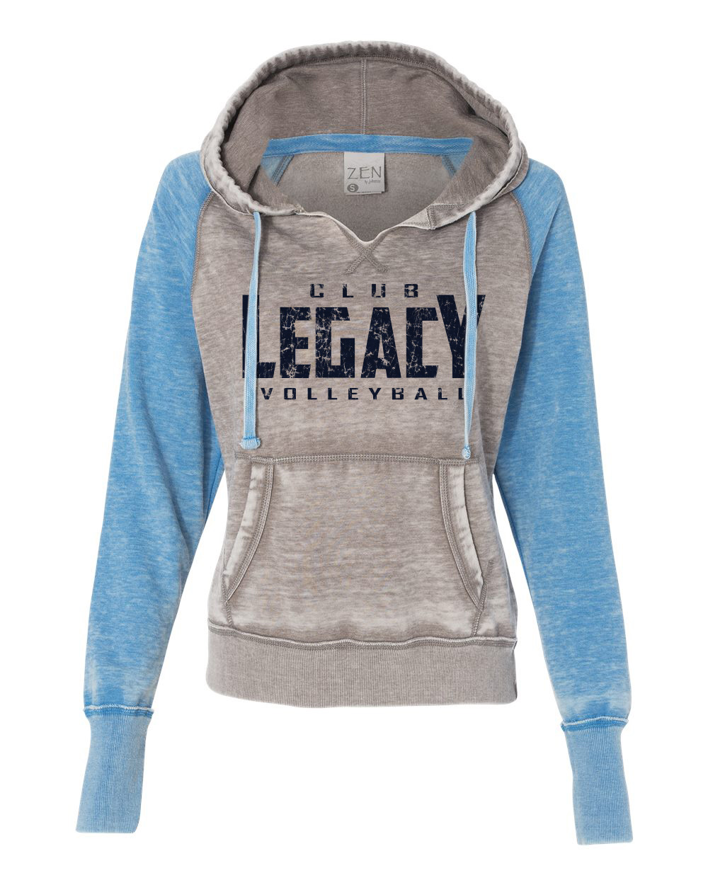 bb5a9c038 J. America - Women's Zen Fleece Raglan Hooded Sweatshirt